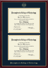 Pennsylvania College of Technology Diploma Frame - Double Diploma Frame in Galleria