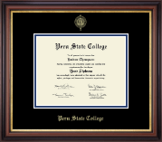 Peru State College Diploma Frame - Gold Embossed Diploma Frame in Regency Gold