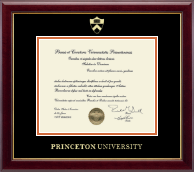 Princeton University Diploma Frame - Gold Embossed Diploma Frame in Gallery