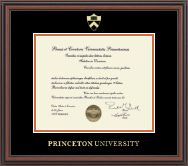 Princeton University Diploma Frame - Gold Embossed Diploma Frame in Regency