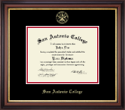 San Antonio College Diploma Frame - Gold Embossed Diploma Frame in Regency Gold