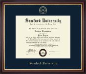 Samford University Diploma Frame - Gold Embossed Diploma Frame in Regency Gold