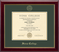 Siena College Diploma Frame - Gold Embossed Diploma Frame in Gallery