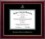 Southern Adventist University Diploma Frame - Gold Embossed Diploma Frame in Gallery