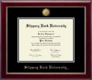 Slippery Rock University Diploma Frame - 23K Medallion Diploma Frame in Gallery