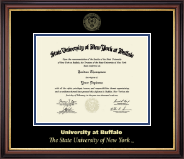 University at Buffalo Diploma Frame - Gold Embossed Diploma Frame in Regency Gold