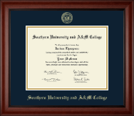 Southern University and A&M College Diploma Frame - Gold Embossed Diploma Frame in Cambridge