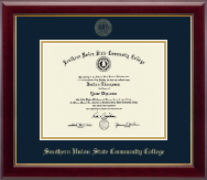 Southern Union State Community College Diploma Frame - Gold Embossed Diploma Frame in Gallery