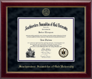 Southwestern Assemblies of God University Diploma Frame - Gold Embossed Diploma Frame in Gallery
