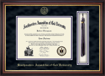 Southwestern Assemblies of God University Diploma Frame - Tassel Edition Diploma Frame in Regency Gold