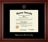 Syracuse University Diploma Frame - Gold Embossed Diploma Frame in Cambridge