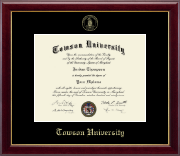Towson University Diploma Frame - Gold Embossed Diploma Frame in Gallery