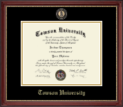 Towson University Diploma Frame - Masterpiece Medallion Diploma Frame in Kensington Gold