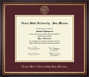 Texas State University San Marcos Diploma Frame - Gold Embossed Diploma Frame in Regency Gold