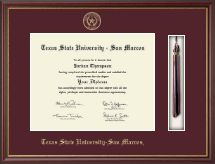 Texas State University San Marcos Diploma Frame - Tassel Edition Diploma Frame in Newport