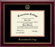 Tusculum College Diploma Frame - Gold Embossed Diploma Frame in Gallery