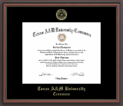 Texas A&M University - Commerce Diploma Frame - Gold Embossed Diploma Frame in Regency