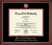Texas Tech University Diploma Frame - Masterpiece Medallion Diploma Frame in Kensington Gold