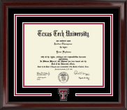 Texas Tech University Diploma Frame - Spirit Medallion Diploma Frame in Encore