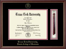 Texas Tech University Diploma Frame - Tassel Diploma Frame in Newport