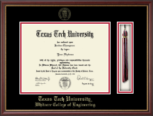 Texas Tech University Diploma Frame - Tassel Edition Diploma Frame in Newport