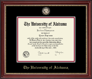 The University of Alabama Tuscaloosa Diploma Frame - Masterpiece Medallion Diploma Frame in Kensington Gold