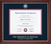 The University of Arizona Diploma Frame - Masterpiece Medallion Diploma Frame in Kensington Gold
