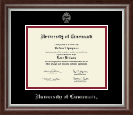 University of Cincinnati Diploma Frame - Silver Embossed Diploma Frame in Devonshire