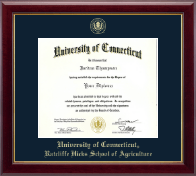 University of Connecticut Diploma Frame - Gold Embossed Diploma Frame in Gallery