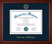 University of Delaware Diploma Frame - Gold Embossed Diploma Frame in Cambridge