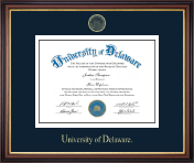 University of Delaware Diploma Frame - Gold Embossed Diploma Frame in Regency Gold