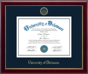 University of Delaware Diploma Frame - Gold Embossed Diploma Frame in Gallery