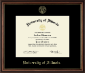 University of Illinois Diploma Frame - Gold Embossed Diploma Frame in Williamsburg