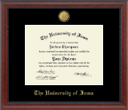 The University of Iowa Diploma Frame - 23K Medallion Diploma Frame in Signature