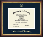 University of Kentucky Diploma Frame - Gold Embossed Diploma Frame in Regency Gold