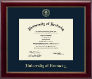 University of Kentucky Diploma Frame - Gold Embossed Diploma Frame in Gallery