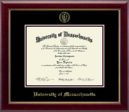 University of Massachusetts Amherst Diploma Frame - Gold Embossed Diploma Frame in Gallery