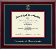 University of Massachusetts Lowell Diploma Frame - Gold Embossed Diploma Frame in Gallery