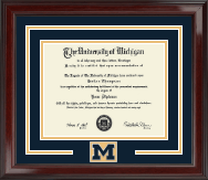 The University of Michigan Diploma Frame - Spirit Medallion Diploma Frame in Encore