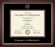 University of Minnesota Twin Cities Diploma Frame - Gold Embossed Diploma Frame in Regency Gold