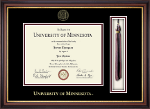 University of Minnesota Twin Cities Diploma Frame - Tassel Diploma Frame in Regency Gold