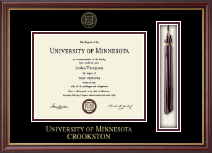 University of Minnesota Crookston Diploma Frame - Tassel Diploma Frame in Newport