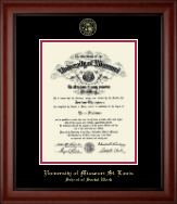 University of Missouri Saint Louis Diploma Frame - Gold Embossed Diploma Frame in Cambridge