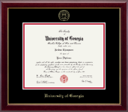The University of Georgia Diploma Frame - Gold Embossed Diploma Frame in Gallery