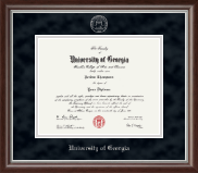 The University of Georgia Diploma Frame - Silver Embossed Diploma Frame in Devonshire