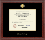 Union College in New York Diploma Frame - 23K Medallion Diploma Frame in Signature