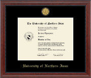 University of Northern Iowa Diploma Frame - 23K Medallion Diploma Frame in Signature