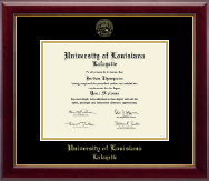 University of Louisiana Lafayette Diploma Frame - Gold Embossed Diploma Frame in Gallery
