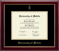 University of Mobile Diploma Frame - Gold Embossed Diploma Frame in Gallery