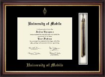 University of Mobile Diploma Frame - Tassel Edition Diploma Frame in Regency Gold